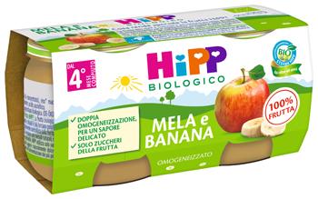 HiPP Bio Omogeneizzato Mela e Banana 2 x 80g - Arcafarma.it