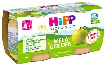 HIPP BIO OMOGENEIZZATO MELA GOLDEN 2 X 80 G - Arcafarma.it