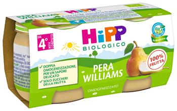 HIPP BIO OMOGENEIZZATO PERA WILLIAMS 2 X 80 G - farmaciafalquigolfoparadiso.it