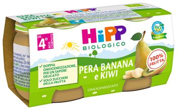 HIPP BIO OMOGENEIZZATO KIWI/BANANA/PERA 2X80 G - Farmaseller