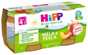 HIPP BIO OMOGENEIZZATO MELA/PESCA 2 X 80 G - Farmaseller