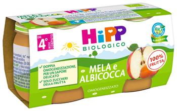 HiPP Bio Omogeneizzato Mela e Albicocca 2 x 80g - Arcafarma.it