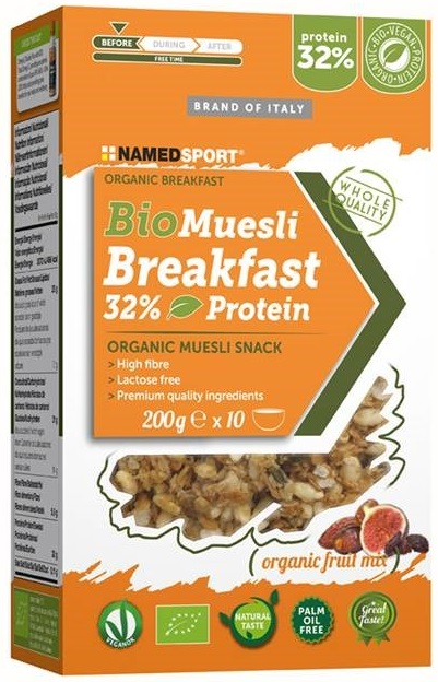 BIOMUESLI BREAKFAST 32% PROTEIN ORGANIC MUESLI FRUIT MIX 200 G - Farmacia Massaro