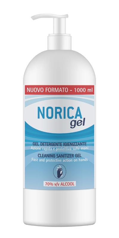 NORICA GEL DETERGENTE IGIENIZZANTE 70% ALCOOL 1000 ML - Farmaseller