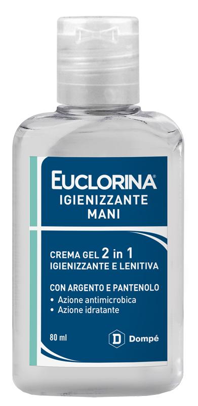 EUCLORINA IGIENIZZANTE MANI CREMA GEL 80 ML - farmaciadeglispeziali.it