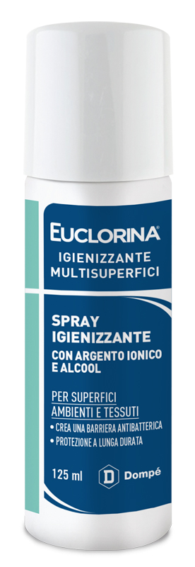 EUCLORINA IGIENIZZANTE MULTISUPERFICI SPRAY 125 ML - Farmajoy