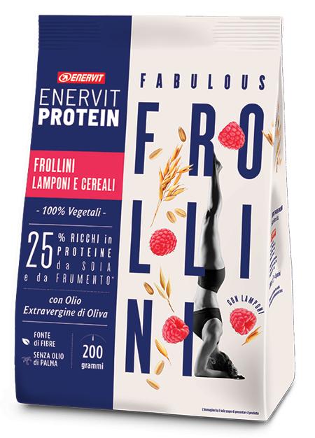ENERVIT PROTEIN FROLLINI LAMPONI CEREALI 200 G - Farmaseller
