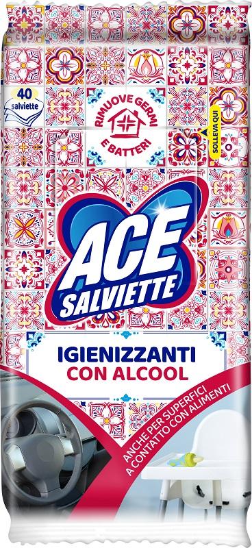 ACE SALVIETTE IGIENIZZANTI ALCOOL 40 PEZZI - Farmaedo.it