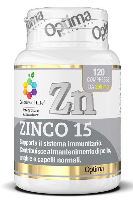 COLOURS OF LIFE ZINCO 15 120 COMPRESSE - Farmaseller
