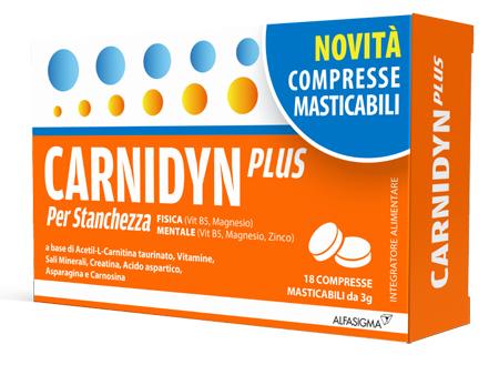 CARNIDYN PLUS 18 COMPRESSE MASTICABILI - Farmafamily.it