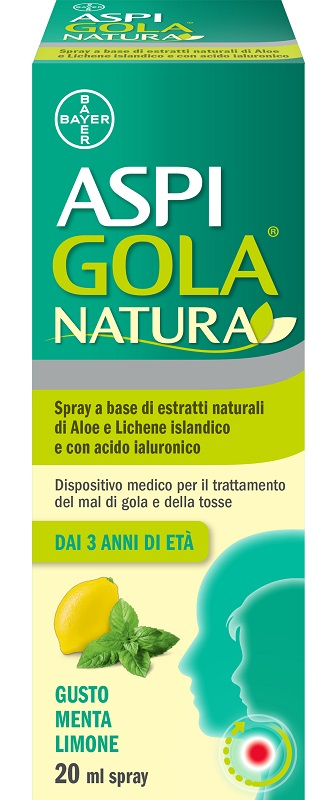 ASPI GOLA NATURA SPRAY MENTA LIMONE 20 ML - Farmafamily.it