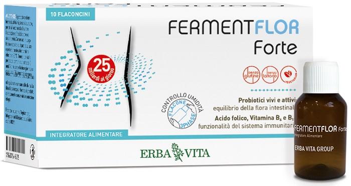 FERMENTFLOR FORTE 10 FLACONCINI - Farmaseller
