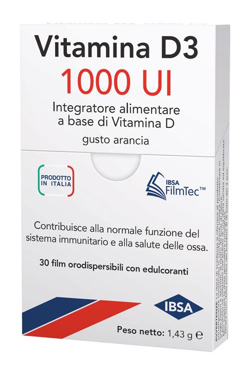 VITAMINA D3 IBSA 1000 UI 30 FILM ORALI - Zfarmacia