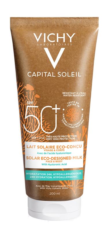 CAPITAL SOLEIL LATTE SOLARE ECO-SOSTENIBILE SPF50+ 200 ML - latuafarmaciaonline.it