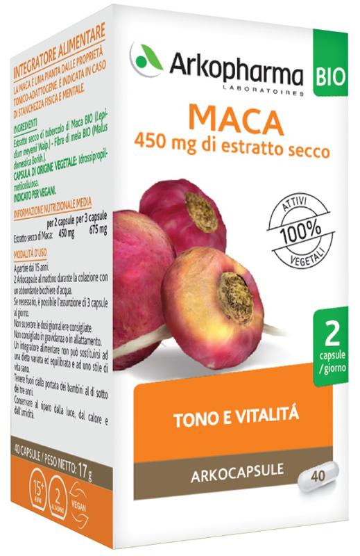 ARKOCAPSULE MACA BIO 40 CAPSULE - Farmaseller