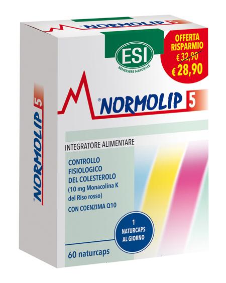 ESI NORMOLIP 5 60 NATURCAPS TAGLIO PREZZO - Farmacianuova.eu