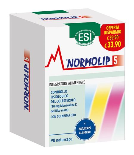 ESI NORMOLIP 5 90 NATURCAPS TAGLIO PREZZO Confezione Originale ESI - Farmacianuova.eu