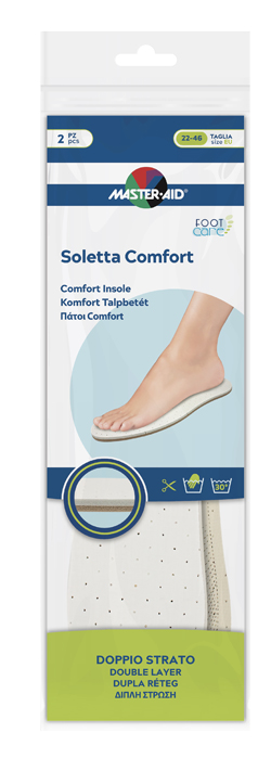 MASTER-AID FOOTCARE SOLETTA COMFORT RITAGLIABILE 2 PEZZI - Farmaseller