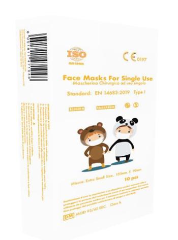 FACE MASK SINGLE USE EXTRA SMALL 10 PEZZI - Farmacielo