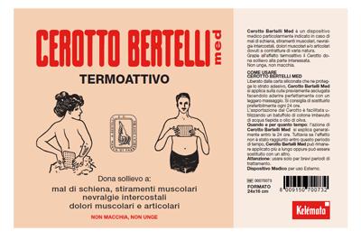 Bertelli Cerotto Med Termoattivo Grande 24 x 16cm - Arcafarma.it