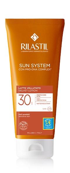RILASTIL SUN SYSTEM PHOTO PROTECTION TERAPY LATTE VELLUTANTE SPF 30 200 ML - Farmaseller