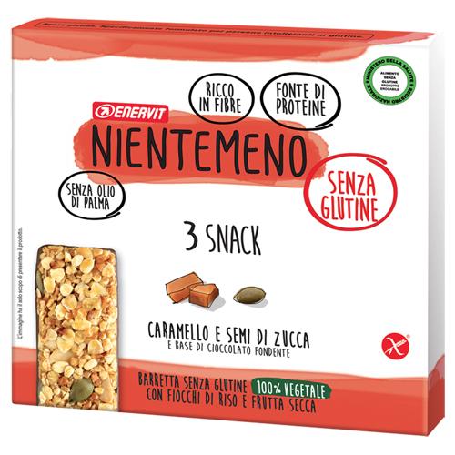Nientemeno Barretta Caramello e Semi di Zucca senza Glutine 3 Pezzi - Arcafarma.it