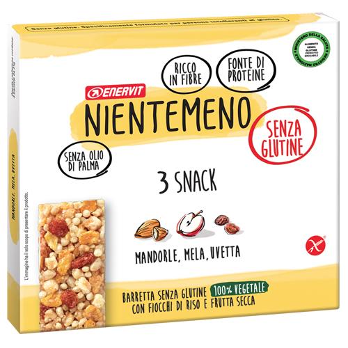 Nientemeno Barretta Mandorle Mela e Uvetta senza Glutine 3 Pezzi - Arcafarma.it