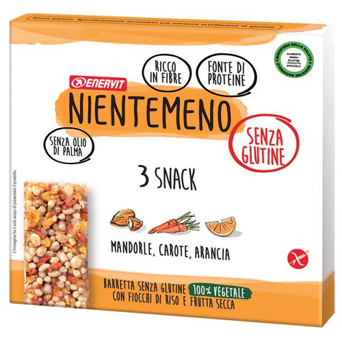 Nientemeno Barretta Mnad Carote e Arancia senza Glutine 3 Pezzi - Arcafarma.it