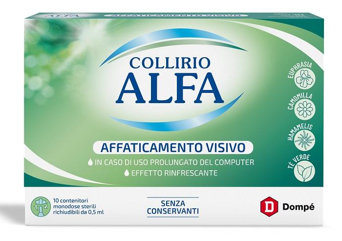 COLLIRIO ALFA AFFATICAMENTO VISIVO 10 PEZZI MONODOSE - latuafarmaciaonline.it