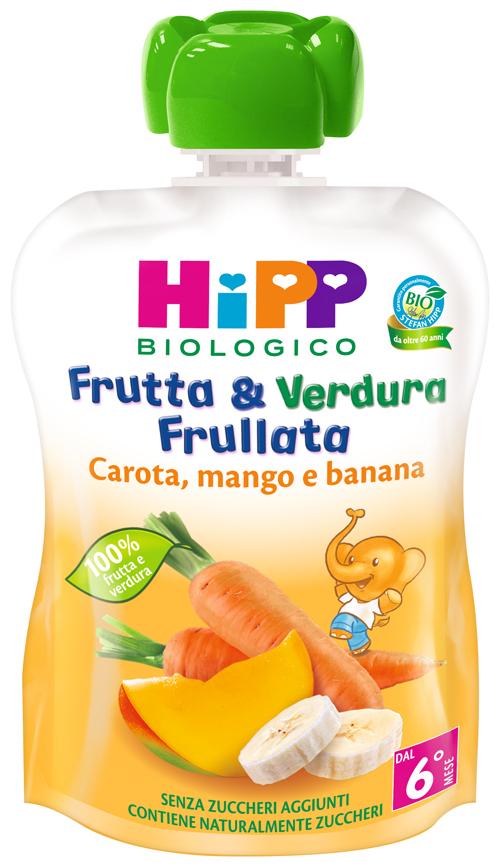 HIPP BIO FRUTTA & VERDURA CAROTA MANGO BANANA 90 G - Farmajoy