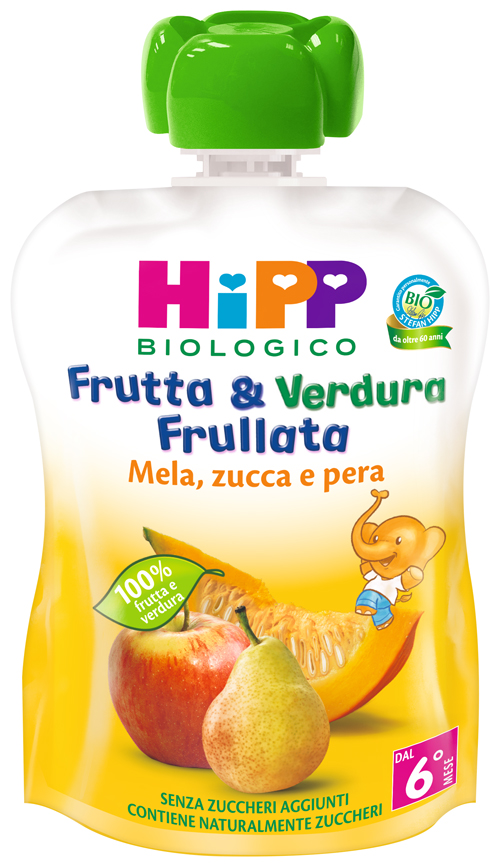 HIPP BIO FRUTTA & VERDURA MELA PERA ZUCCA 90 G - Farmajoy