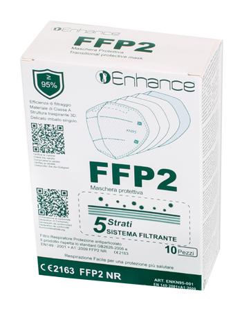 ENHANCE MASCHERA PROTETTIVA FFP2 5 STRATI 10 PEZZI -  Farmacia Santa Chiara