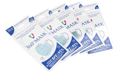 Mascherina Chirurgica a 3 Veli TNT Monouso 10 Pezzi - Arcafarma.it