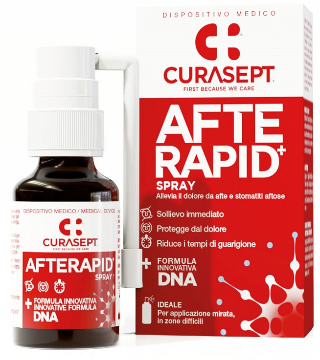 CURASEPT SPRAY AFTE RAPID DNA 15 ML - farmaciadeglispeziali.it