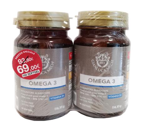 OMEGA 3 180 SOFT GEL BIPACK -  Farmacia Santa Chiara