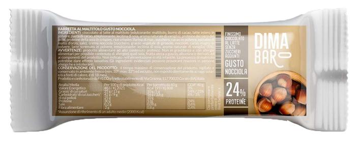 DIMABAR BARRETTA AL MALTITOLO GUSTO NOCCIOLA 40 G - Farmaseller