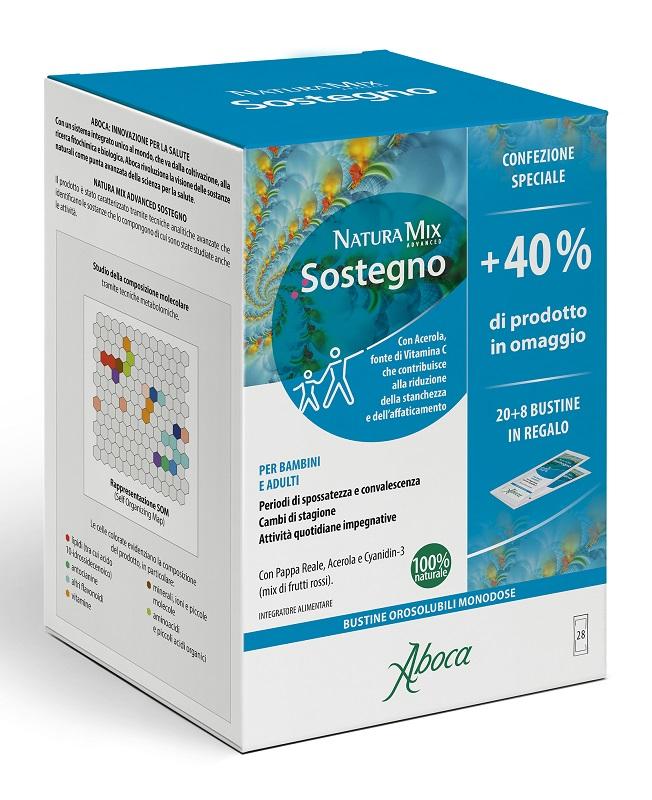 NATURA MIX ADVANCED SOSTEGNO OROSOLUBILE 28 BUSTINE CONFEZIONE SPECIALE - Farmastar.it