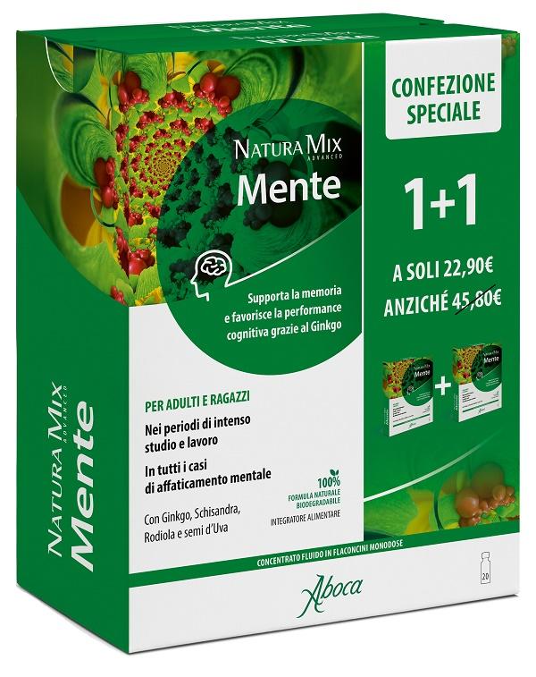 NATURA MIX ADVANCED MENTE 10 FLACONCINI + 10 FLACONCINI 300 ML CONFEZIONE SPECIALE - Farmacia Castel del Monte