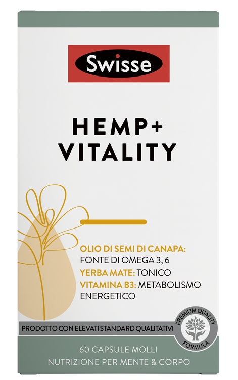 SWISSE HEMP+ VITALITY 60 CAPSULE - Farmaseller