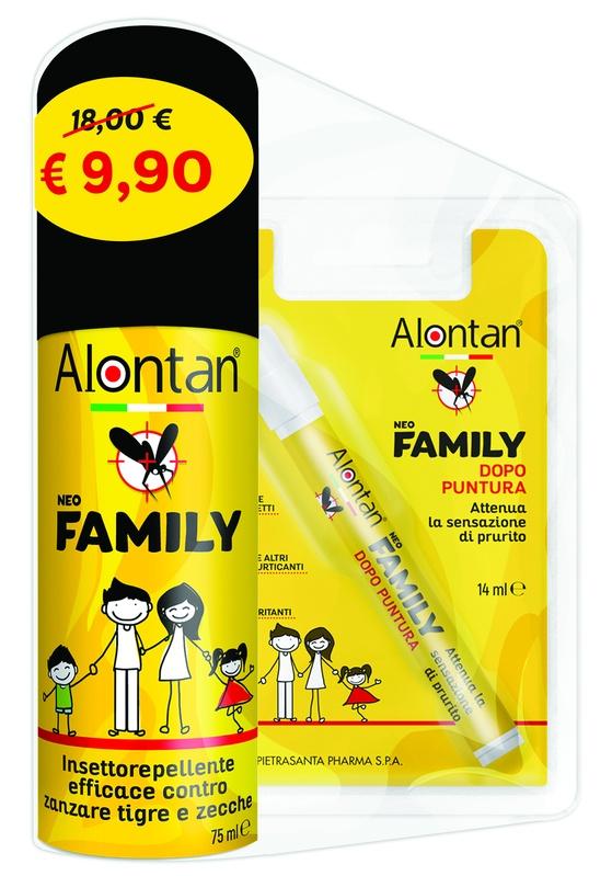 BI PACK NEO FAMILY SPRAY 75 ML + AFTERBITE DOPO PUNTURA 14 ML - farmaciadeglispeziali.it