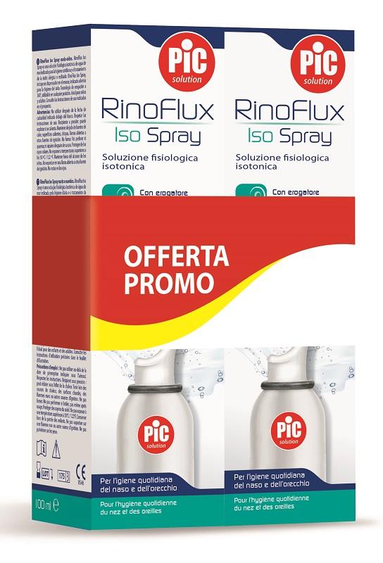 PROMO RINOFLUX SPRAY SOLUZIONE ISOTONICA 1+1 100 ML+100 ML - Farmaseller