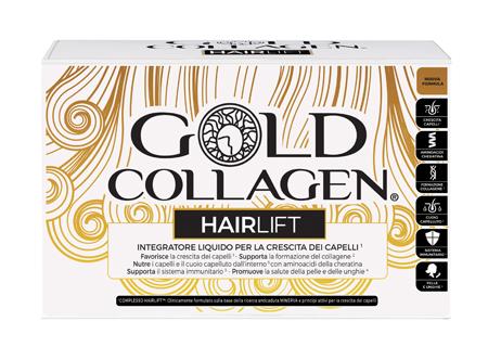GOLD COLLAGEN HAIRLIFT 10 FLACONCINI DA 50 ML - Farmaseller