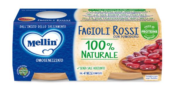 MELLIN OMOGENEIZZATO FAGIOLI ROSSI 2 X 80 G - Farmaseller
