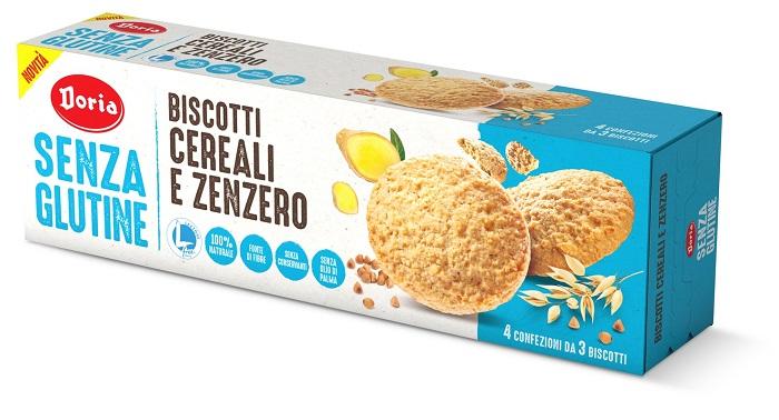 DORIA BISCOTTI CEREALI-ZENZERO 4X37,5 G - Farmaseller