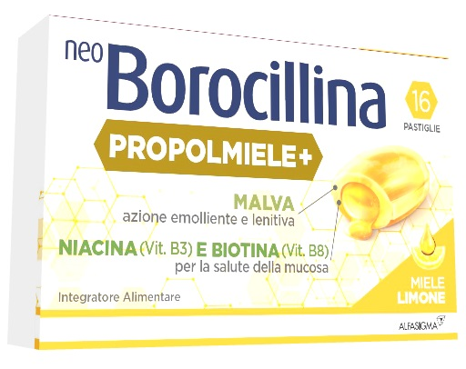 NEOBOROCILLINA PROPOLMIELE+ MIELE/LIMONE 16 PASTIGLIE - Arcafarma.it
