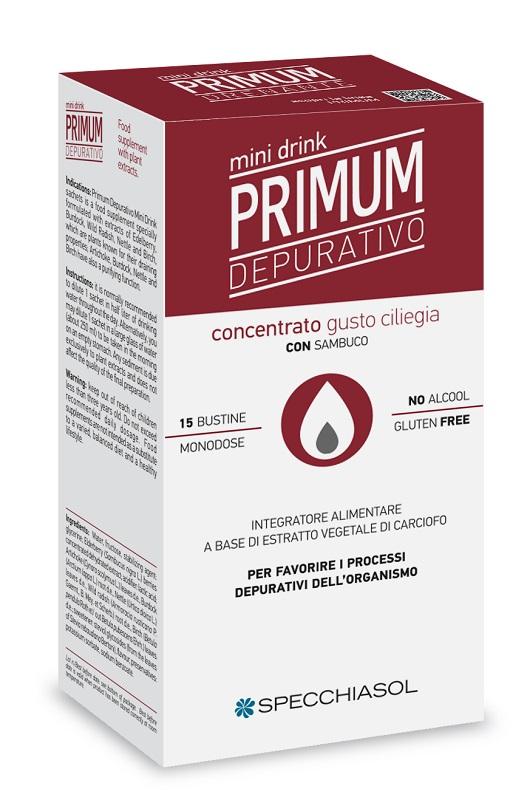 PRIMUM DEPURATIVO MINIDRINK CILIEGIA 15 STICK DA 10 ML - Farmaseller