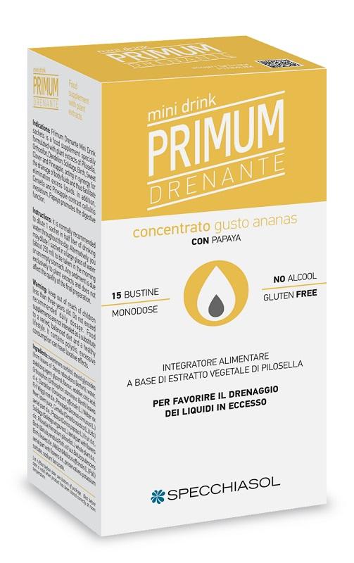 PRIMUM DRENANTE MINIDRINK ANANAS 15 STICK DA 10 ML - Farmaseller