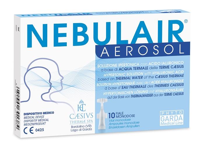 NEBULAIR AEROSOL SOLUZIONE IPERTONICA 10 FIALE MONODOSE 3 ML ACQTERM - Farmaseller
