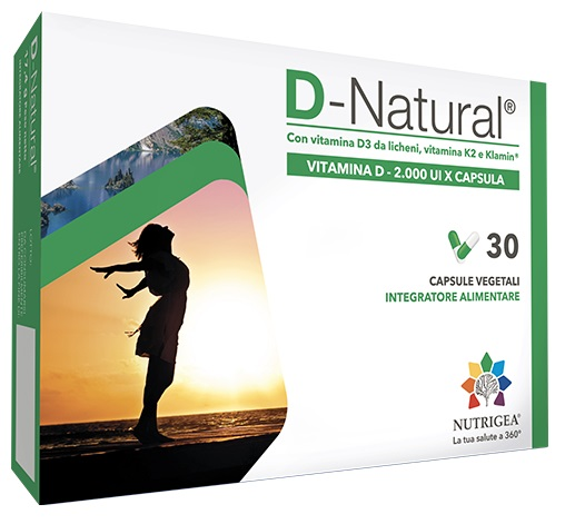 D NATURAL INTEGRATORE VITAMINA D3 NUTRIGEA 30 CAPSULE  - Farmastar.it