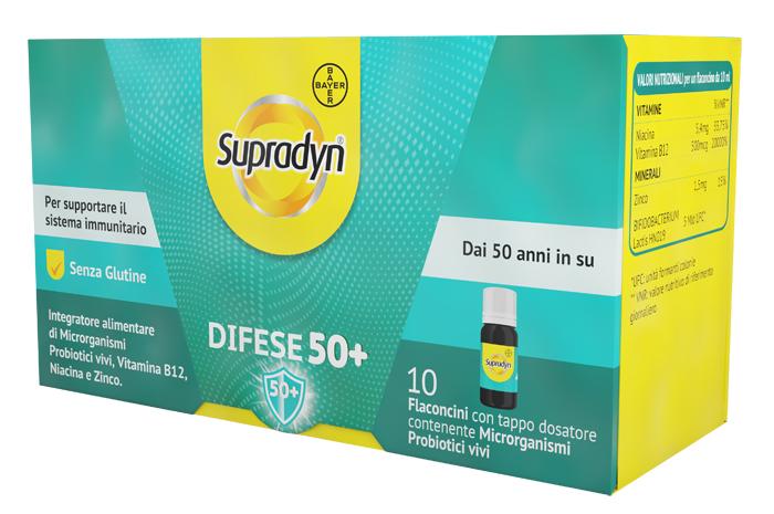 SUPRADYN DIFESE 50+ 10 FLACONCINI 10 ML - Farmacianuova.eu